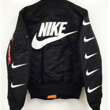 Pillage — NIKE MA-1 BOMBER JACKET - Black