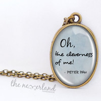 Peter Pan necklace, quote pendant, customized necklace, gift