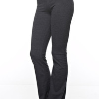 Boot Cut Yoga Pants - Charcoal