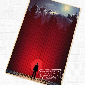 Twin Peaks Agent Cooper Red Room Surreal Poster