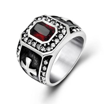 Jewelry Gift Shiny New Arrival Vintage Titanium Stylish Strong Character Gemstone Accessory Ring [6542666435]