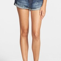 Junior Women's Volcom Cuffed Denim Shorts ,