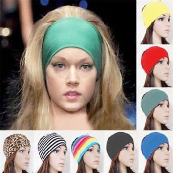 "5"" women Colored wide yoga headband stretch hairband elastic hair bands turban = 1933035204"