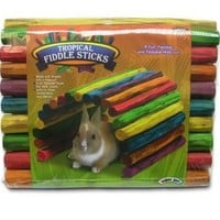 Kaytee Tropical Fiddle Sticks Small Animal Flexible Hideout, Large