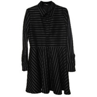 Pin Striped Flare Dress