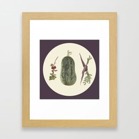 Vegetable plate Framed Art Print by anipani