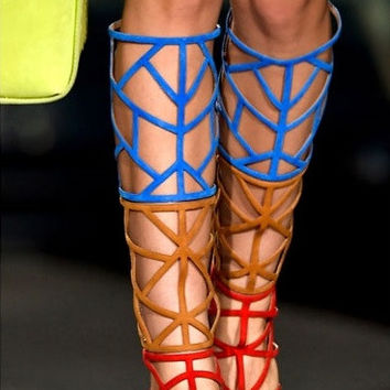 Syriano Knee High Gladiator Sandals