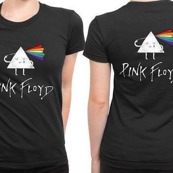 Pink Floyd Cartoon 2 Sided Womens T Shirt