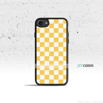 Yellow Checkerboard Phone Case Cover for Apple iPhone iPod Samsung Galaxy S & Note