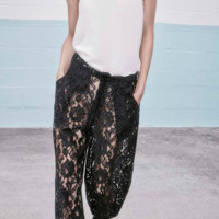 Alexis 'Jared Black Lace Track' Pants | Shop Alexis
