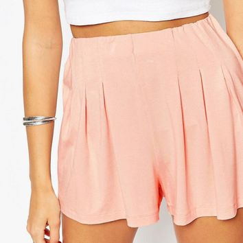 ASOS Pleated Culotte Shorts at asos.com