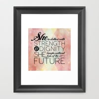 Proverbs 31 She is...  Framed Art Print by Pocket Fuel