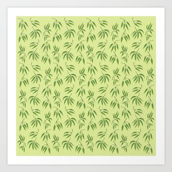 Bamboo leaf Art Print by Y.B. Webb