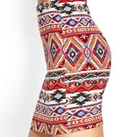 Tribal Print Mini Skirt