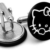 Hello Kitty Black Cufflinks