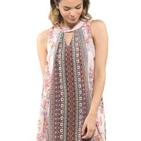 Taylor & Sage Paisley Shift Dress