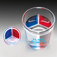 Slot Shots Divided Shot Glasses