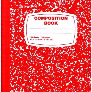Dd Red Composition Notebook - 100 Sheets(Pack Of 48)