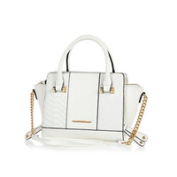 River Island Womens White quilted winged chain detail mini bag