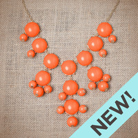Tangerine Bubble Necklace