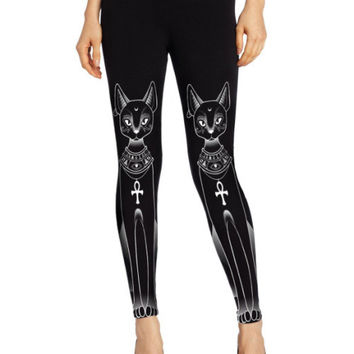 EAST KNITTING F335 New Arrival 2015 Funny Sailor Moon Cat Print Legging Fitbess Sexy Sport Leggings Drop Shipping