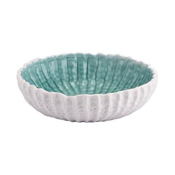 A11286 Fiore Small Bowl White & Green
