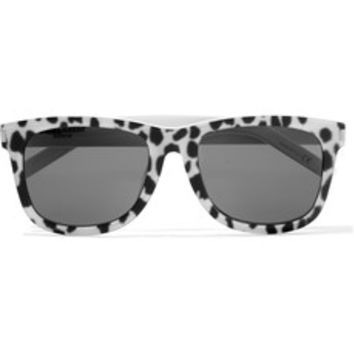 Saint Laurent D-frame printed acetate sunglasses – 50% at THE OUTNET.COM