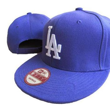LMF8KY Los Angeles Dodgers New Era MLB 9FIFTY Cap Blue-White