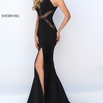 Laced Long Gown by Sherri Hill