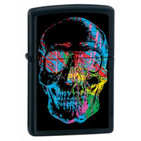 Zippo 28042 Multi-Color Skull Lighter