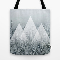 Winter Time Tote Bag by Cafelab