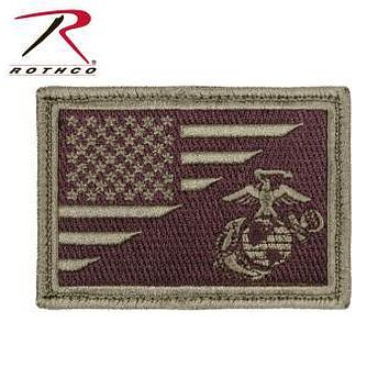 US Flag / USMC Globe and Anchor Morale Patch