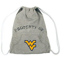 NCAA West Virginia Mountaineers Hoodie Cinch Backpack, 14 x 17-Inch, Gray