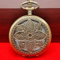 Coreopsis Flower Pocket Watch Necklace Antique Bronze by Nancyliu