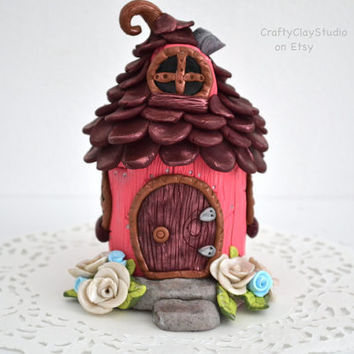 Fairy House - Fairy Garden - Clay Fairy House - Fairy Garden Kit - Polymer Clay Decor - Mini Garden Decor - Toothfairy House - Fairy Decor