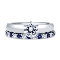Sterling Silver Round CZ Solitaire Ring Set 1.77 CTWBe the first to write a reviewSKU# vr293-01