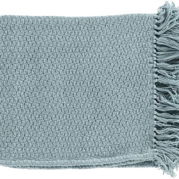Tressa Contemporary Woven Throw - Blue
