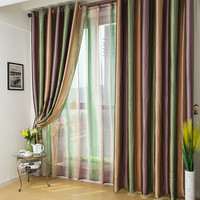 european style Window Curtains stripes  For Living Room/bedding