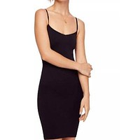free people - seamless mini slip - black