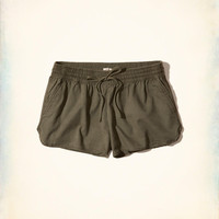 Girls Curved Hem Soft Twill Shorts | Girls Bottoms | HollisterCo.com