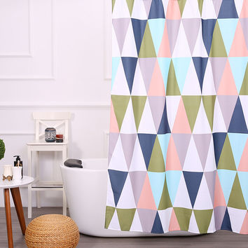 Colorful Western Fabric Shower Curtain