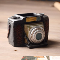 Retro Camera Pen Pencil Holder Desk Organizer Accessories