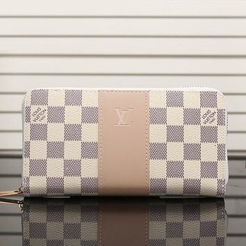 Louis Vuitton LV Women Leather Fashion Print Wallet Purse