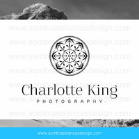 OOAK Premade Logo Design - Black Mandala - Perfect for a professional photographer or a creative business