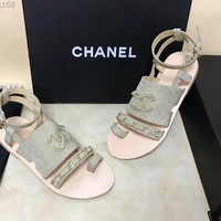 """CHANEL"" Classic Chain Sandals"