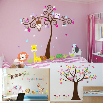 Best tree murals for kids rooms products on wanelo - Papel tapiz infantil ...
