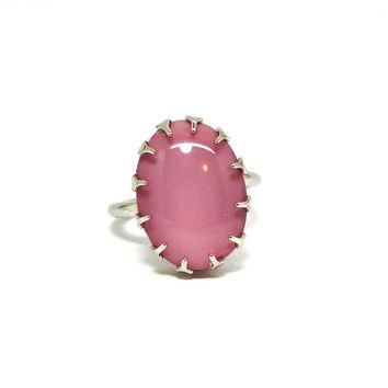 RING PINK unique GIFTS for ring bearer Light pink jewelry ring gift simple cocktail ring Sarah coventry ring canada G.I.F.T.S  Sarah cov