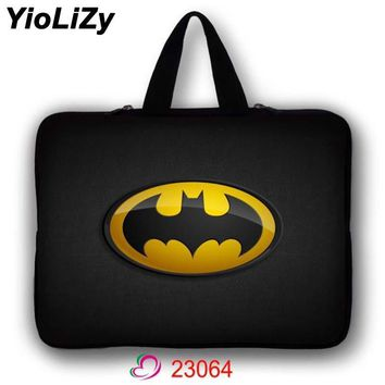 Batman Dark Knight gift Christmas Batman print mini Tablet Bag notebook Sleeve Ultrabook cover 7.9 9.7 11.6 13.3 15.4 15.6 17.3 waterproof Laptop Case LB-23064 AT_71_6