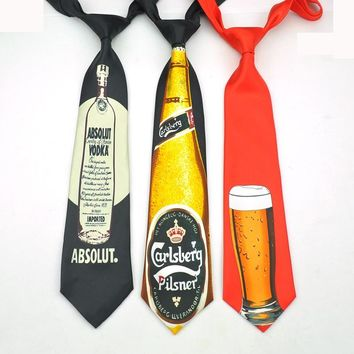 Name Brand Fashion 5 design beer mug beer glass cup 9cm novelty funny ties for men fashion corbata men's party causal necktie