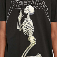 Kanye West Yeezus Praying Tee in Black - Urban Outfitters